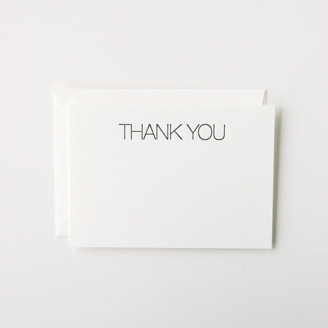 Minimal Thank You Stationery Set