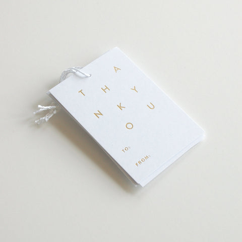 Thank You - Gold Foil Gift Tags