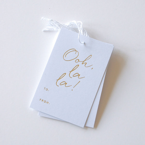 Ooh, La La - Gold Foil Gift Tags