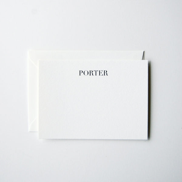 Porter - Personalized Stationery Set
