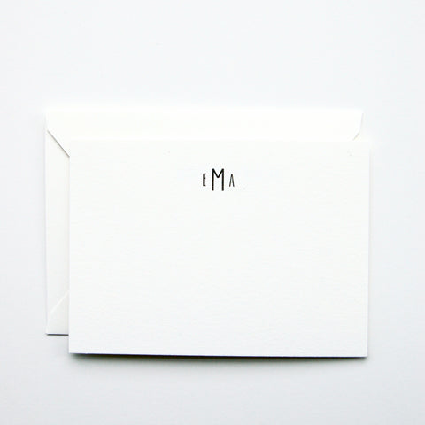 Modern Monogram - Personalized Stationery Set