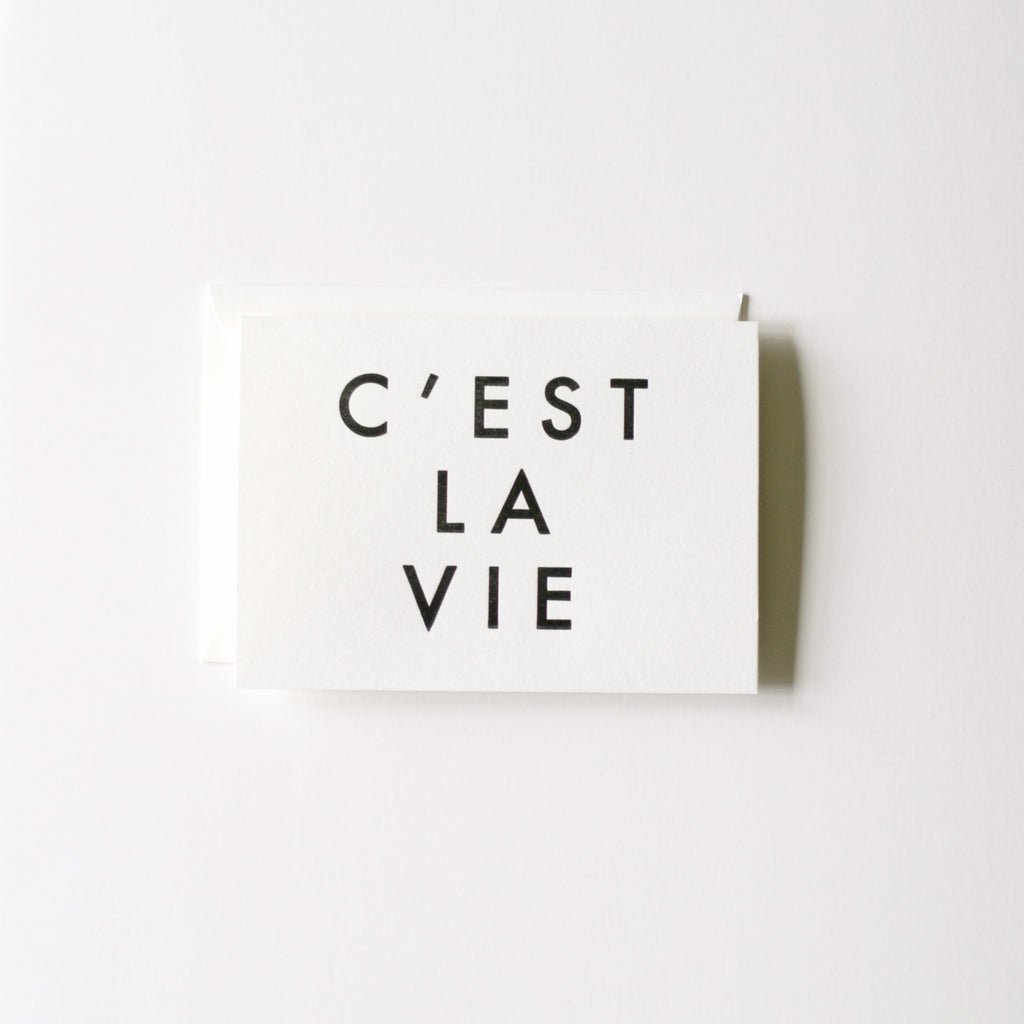 C Est La Vie In Haus Press