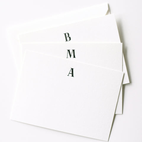 Monogrammed Stationery Set