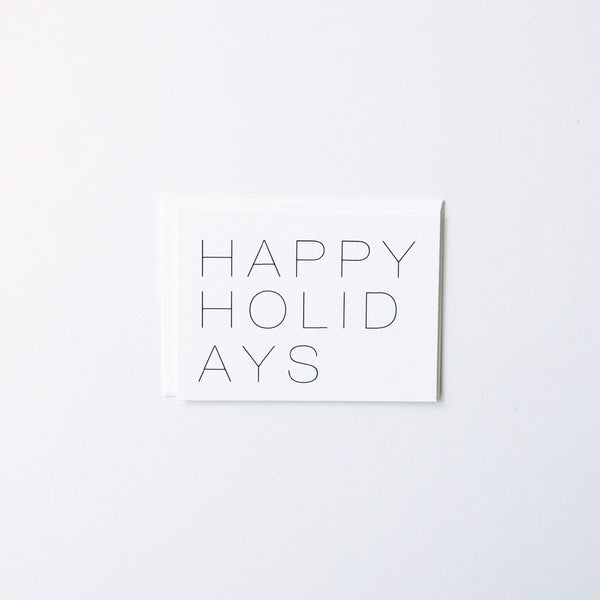 Happy Holidays (Minimal)