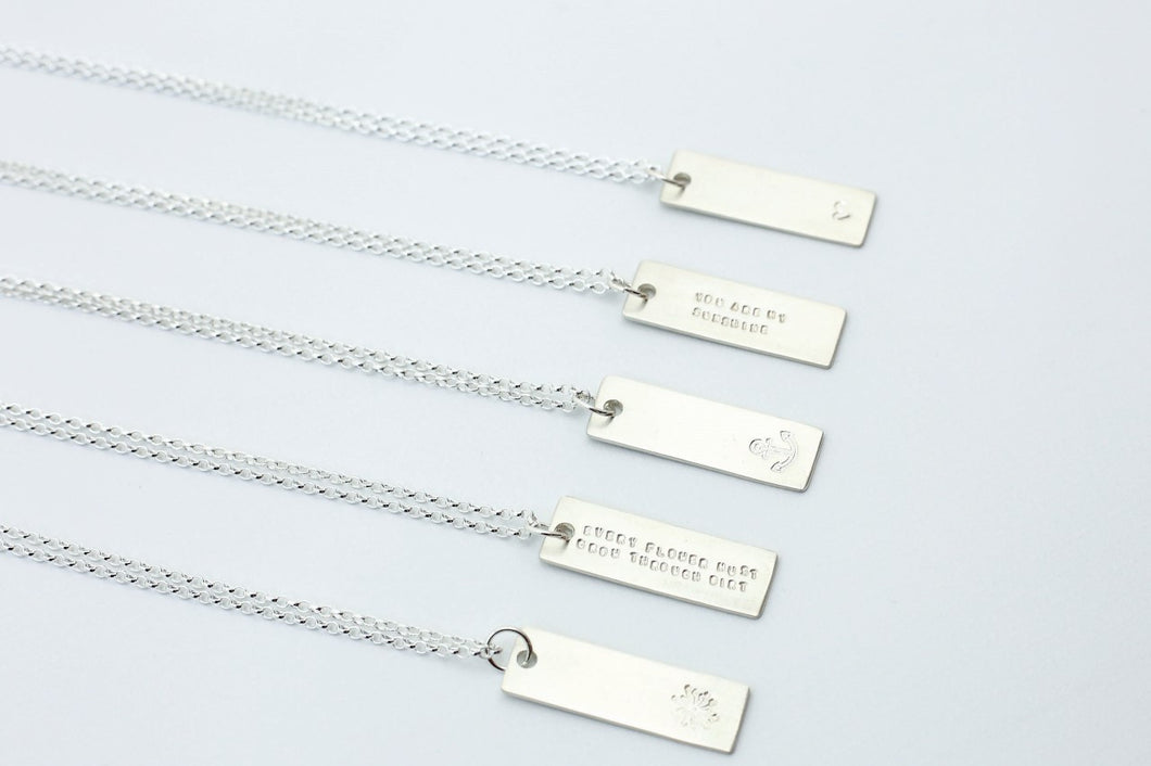 Silver Tag Necklace