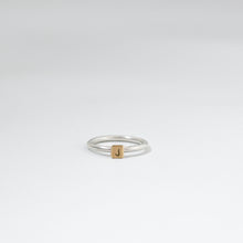 Load image into Gallery viewer, Silver & 9ct Gold Initial Ring