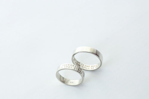 Medium Thick Silver Ring