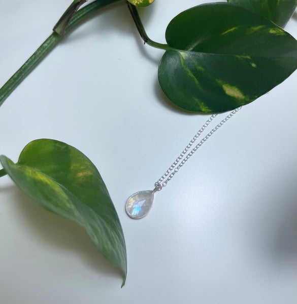 Pear Moonstone Necklace