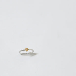 Silver & 9ct Gold Initial Ring