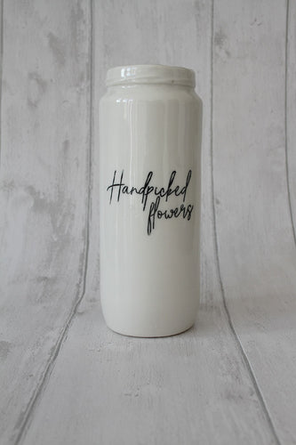 Porcelain Vase Jar - Handpicked flowers