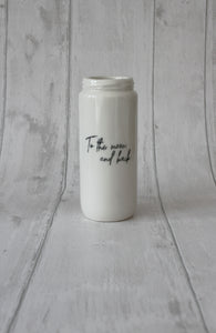 Tall Porcelain Jar - To the moon & back