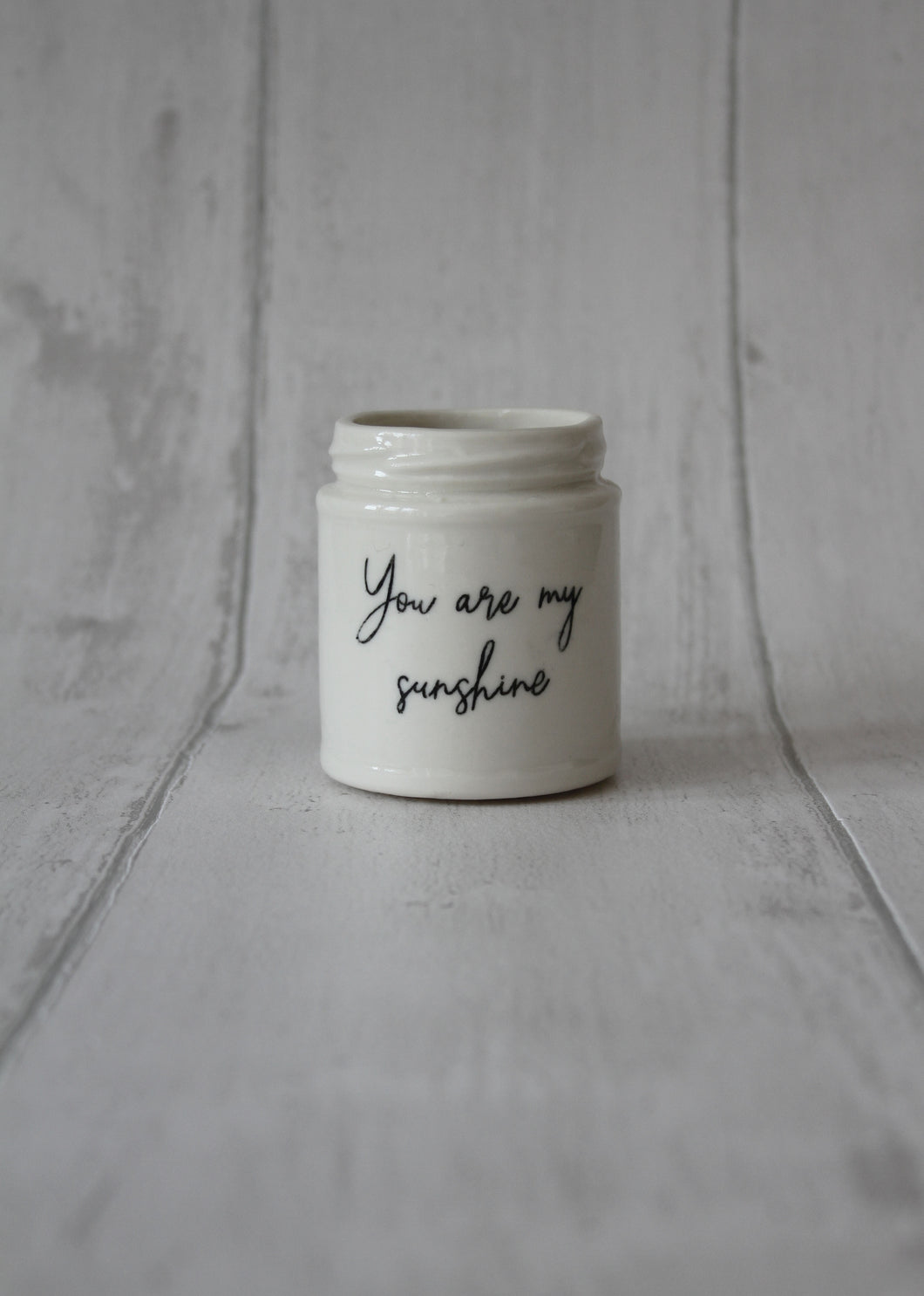Medium Porcelain Jar - You are my sunshine