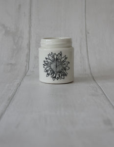 Medium Porcelain Jar - Sunflower