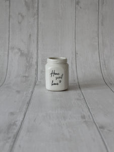 Square Porcelain Jar - Home sweet home