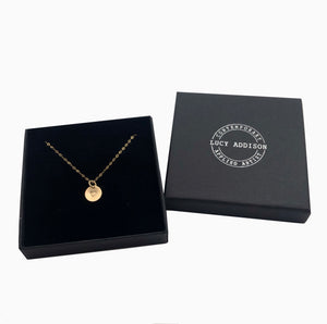 Gold Disc Heart Necklace
