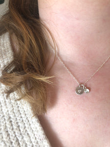 Silver Heart & Rosecut Moonstone Necklace