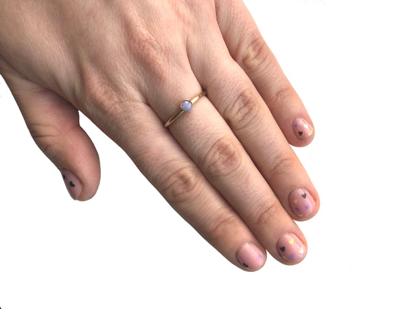Gold Opal Ring Size N
