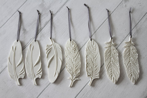 Porcelain Feather Decoration