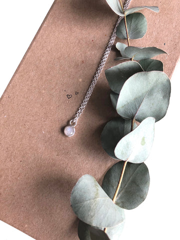 Rosecut Rainbow Moonstone Necklace