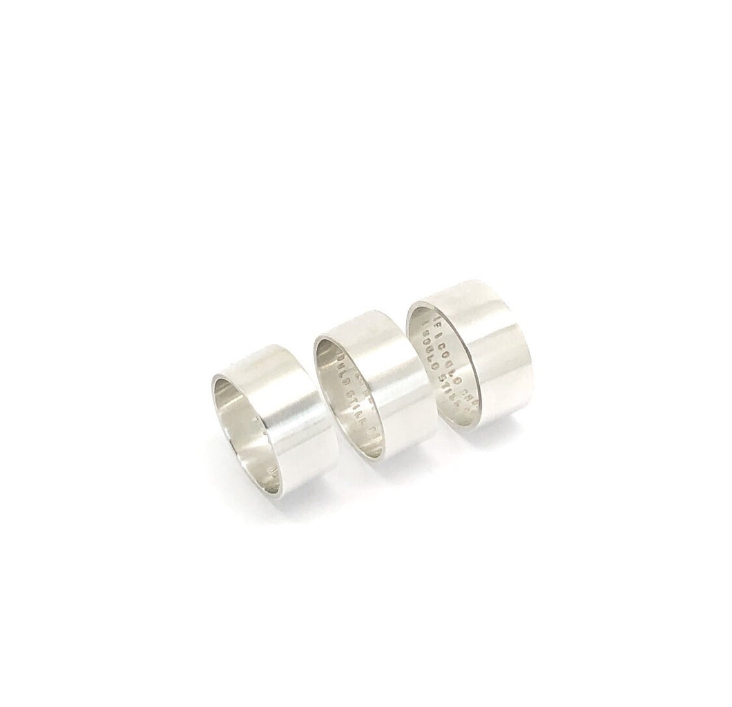 Thick Silver Rings Plain Outside Various Quotes Inside