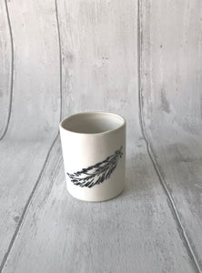 Medium Porcelain Jar - Feathers...