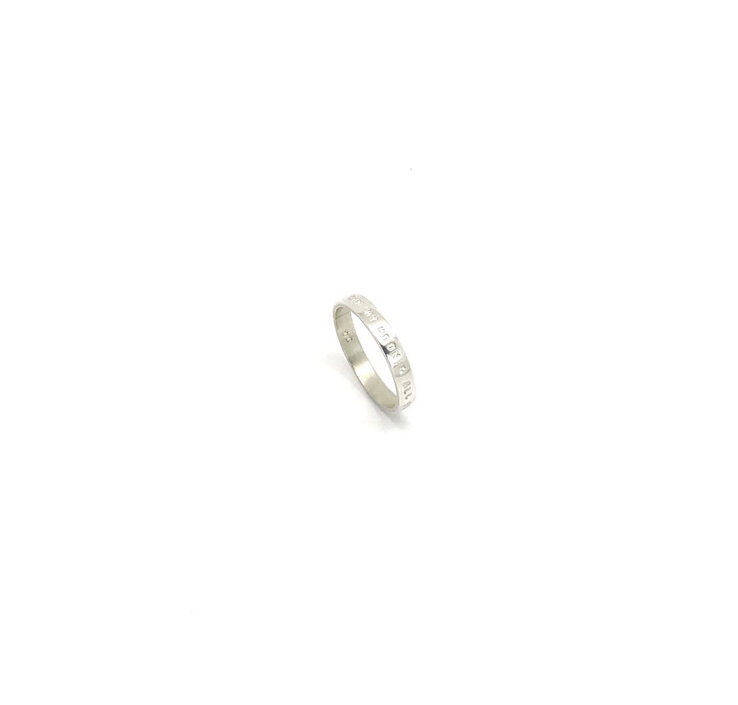 Thin Silver Ring 'my sun my moon & all my stars'