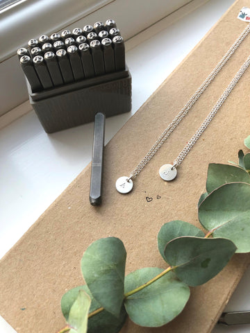 Matching Silver Initial Necklaces