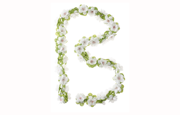 Basil Flower Garlands white