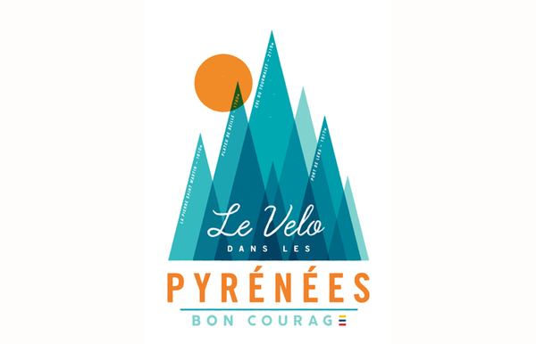 Bon Courage The Grand Tour Poster - Pyrenees Stages