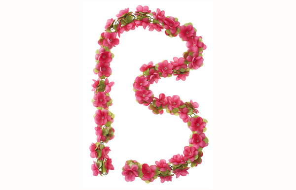 Basil Flower Garlands pink