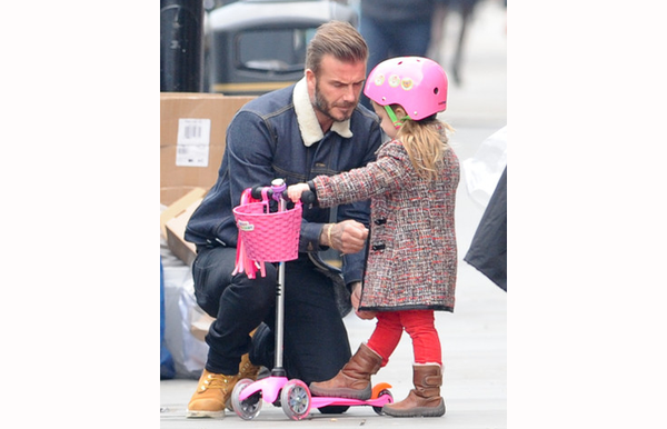Kiddimoto helmet with David Beckham