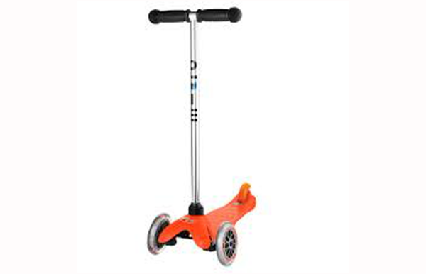 Orange mini micro scooter