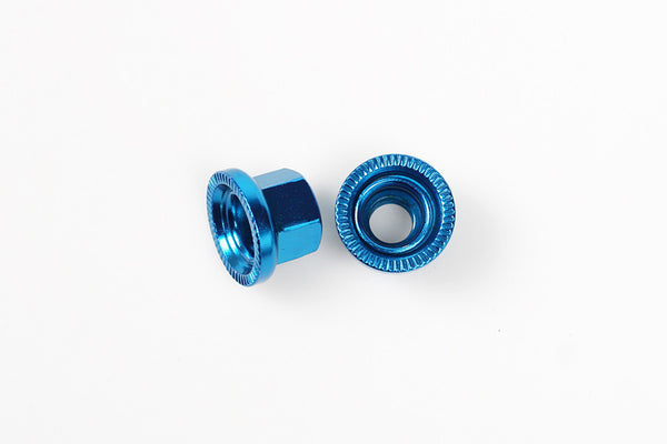 BLB Steel Track Nuts blue