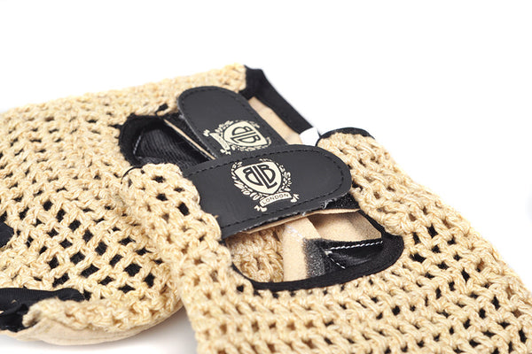 BLB knitted cycling gloves tan