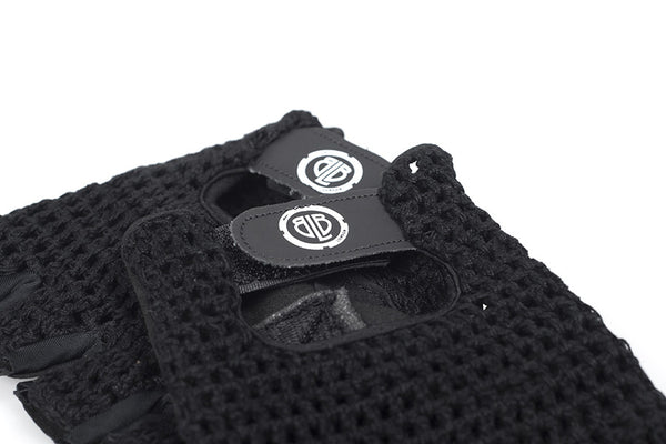 BLB knitted cycling gloves black