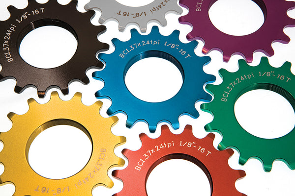 BLB Track Sprocket colours silver black