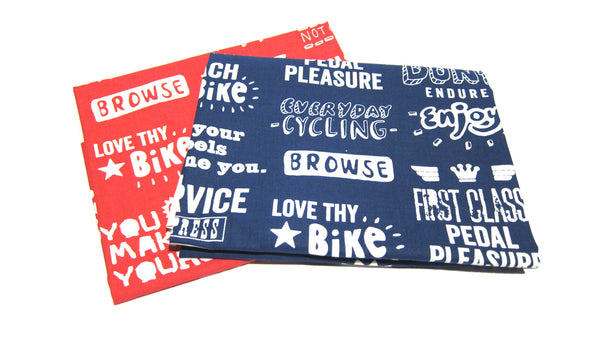 Bikelands Tea Towel Red