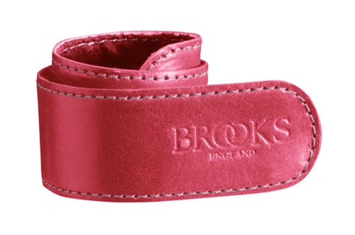 Brooks Leather Trouser Strap raspberry