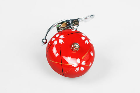 Crane Handpainted Bell Red Spring