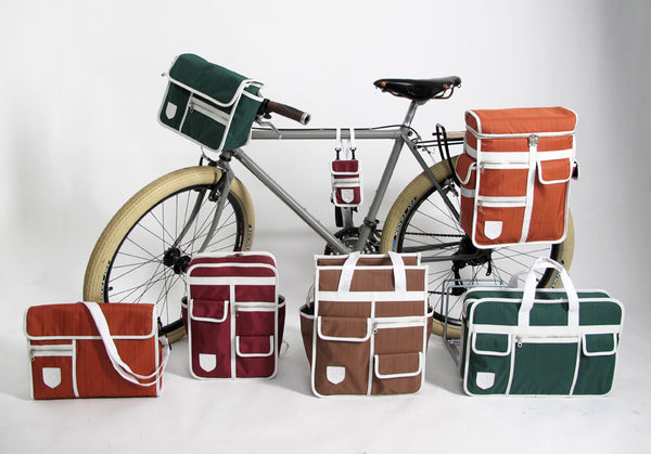 Goodordering pannier market shopper handlebar bag backpack collection on bike