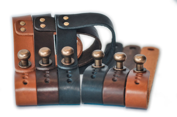 Oopsmark leather wine rack Tan Brown Black