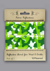 Vizavee Reflective Band for wrist or ankle camo green