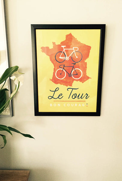 Bon Courage - Le Tour Print