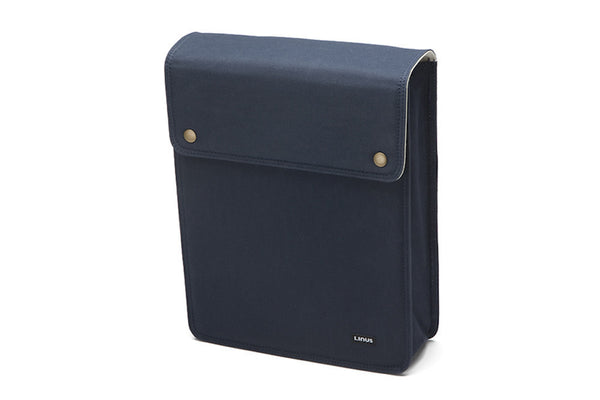 Linus Office Bag Navy with Cream interior