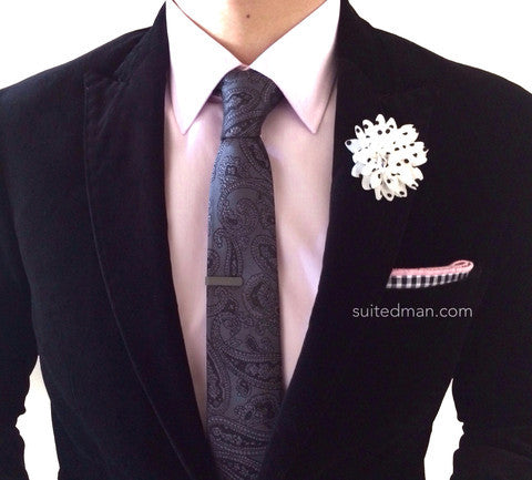 Suited man lapel flowers pin suitedman lapel flower mightylinksfo