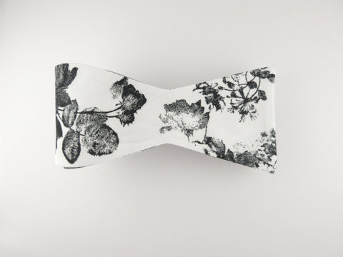 Floral Bow Tie, Antique Watercolor, Flat End