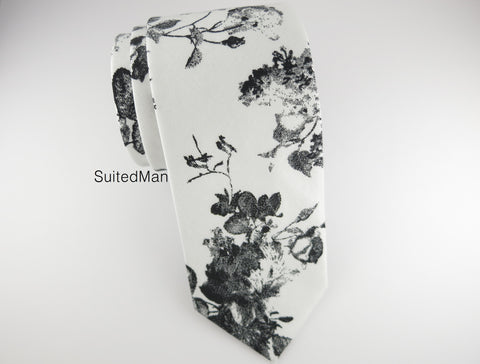 Floral Tie, Antique Watercolor