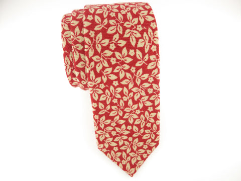 Floral Tie, Autumn Leaves
