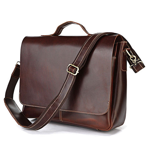 SuitedMan Briefcase/Messenger Bag, Cognac