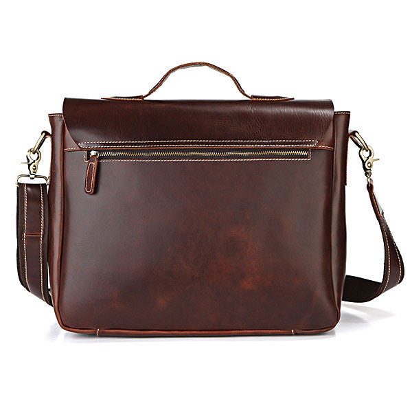SuitedMan Briefcase/Messenger Bag, Cognac - SuitedMan